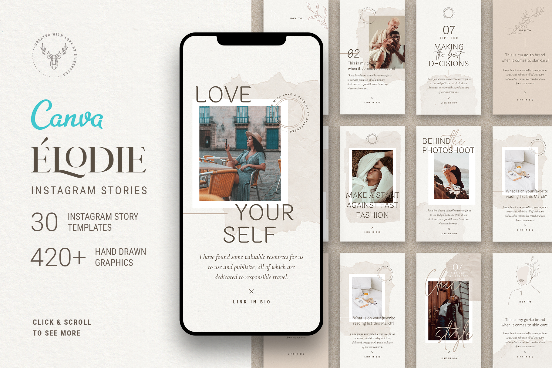 Download Free Elodie Canva Instagram Stories Graphic By Silverstag for Cricut Explore, Silhouette and other cutting machines.