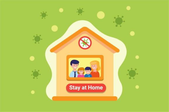 Download Free Family Stay At Home To Prevention Virus Graphic By Aryo Hadi for Cricut Explore, Silhouette and other cutting machines.