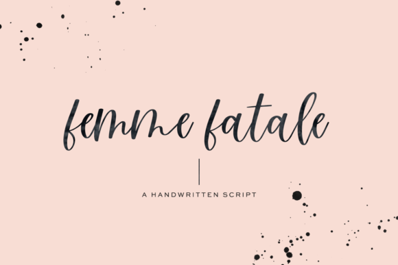 Print on Demand: Femme Fatale Script & Handwritten Font By BeckMcCormick