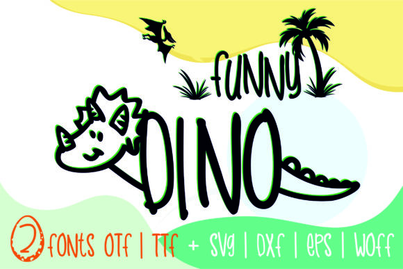 Print on Demand: Funny Dino Decorative Font By Typography Morozyuk