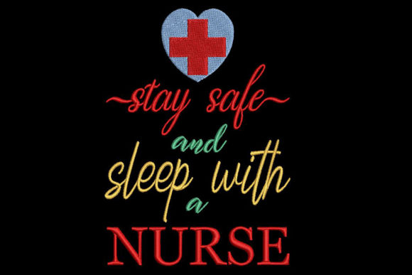 Funny Nurse Quote Inspirierend Stickdesign von Embroidery Shelter