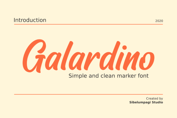 Print on Demand: Galardino Script & Handwritten Font By Sibelumpagi Studio