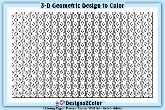 Print on Demand: Geometric Design Graphic Illustrations By Designs 2 Color - Image 1