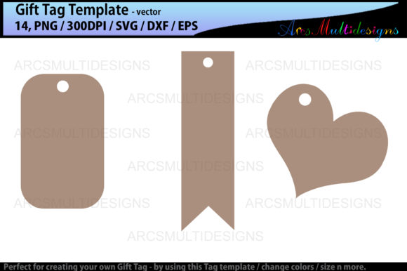 Download Free Gift Tags Graphic By Arcs Multidesigns Creative Fabrica for Cricut Explore, Silhouette and other cutting machines.