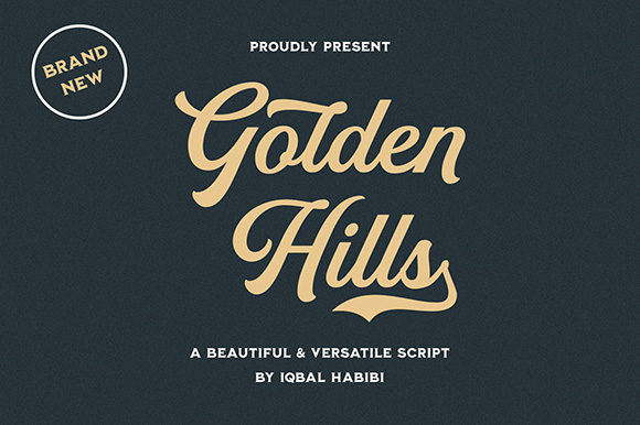 Print on Demand: Golden Hills Script & Handwritten Font By Iqbal Habibi