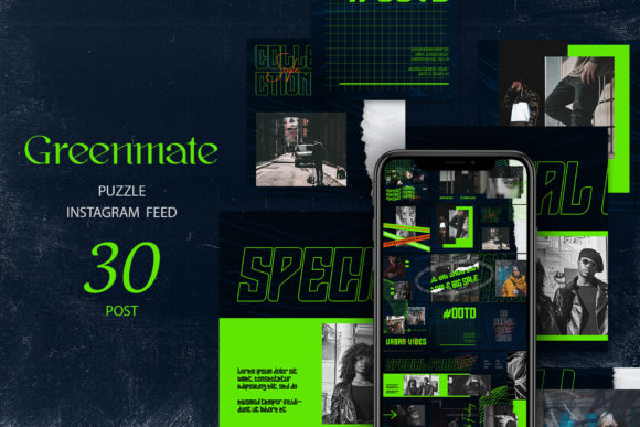 Greenmate Puzzle Instagram Feed Graphic Web Elements By qohhaarqhaz