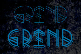 Print on Demand: Grind Display Font By qkila