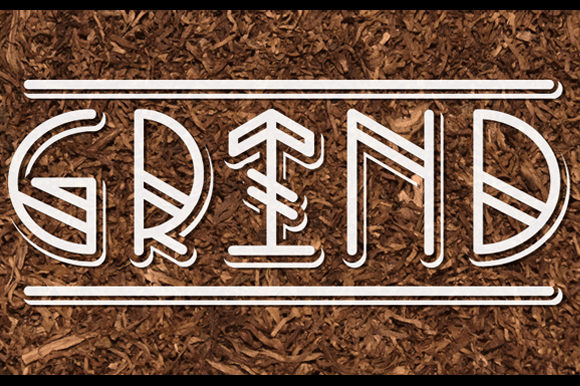 Print on Demand: Grind Display Font By qkila - Image 2