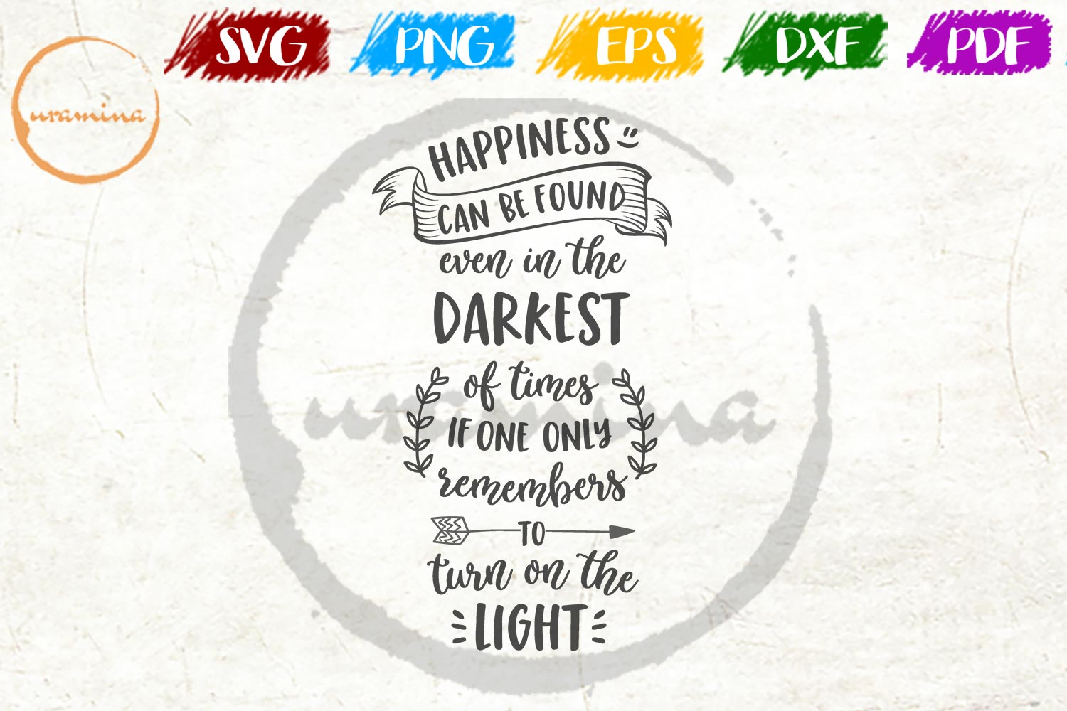 Download Free Happiness Can Be Found Graphic By Uramina Creative Fabrica for Cricut Explore, Silhouette and other cutting machines.