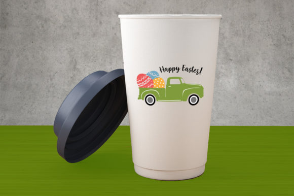 Download Free Happy Easter Truck With Eggs Graphic By Gleenart Graphic Design for Cricut Explore, Silhouette and other cutting machines.