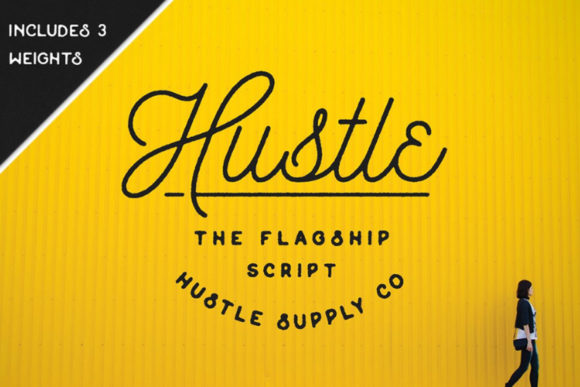 Print on Demand: Hustle Script & Handwritten Font By Hustle Supply Co.