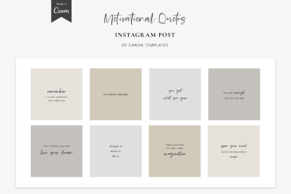 Download Free Instagram Quotes Canva Post Templates Graphic By Stylishdesign for Cricut Explore, Silhouette and other cutting machines.