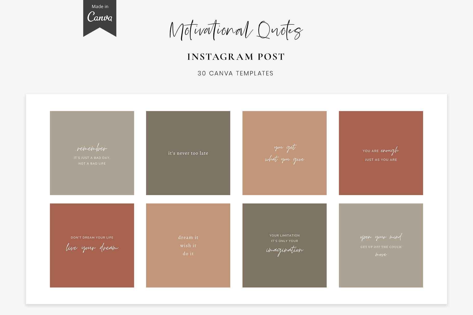 Instagram Quotes Canva Templates Graphic By Stylishdesign