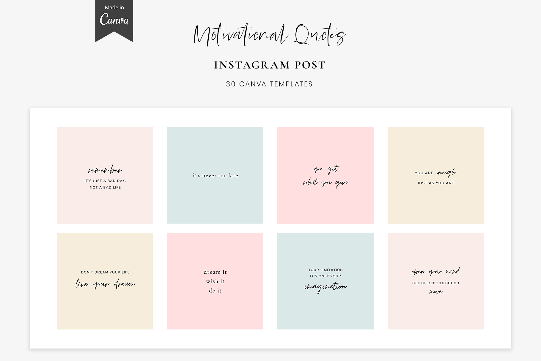 Download Free Instagram Quotes Canva Templates Graphic By Stylishdesign SVG Cut Files