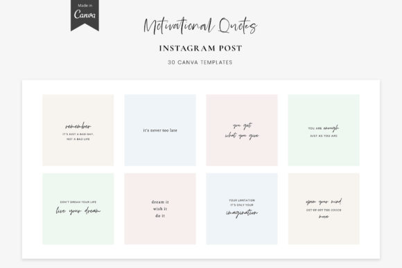 Instagram Quotes - Canva Templates Graphic Graphic Templates By StylishDesign