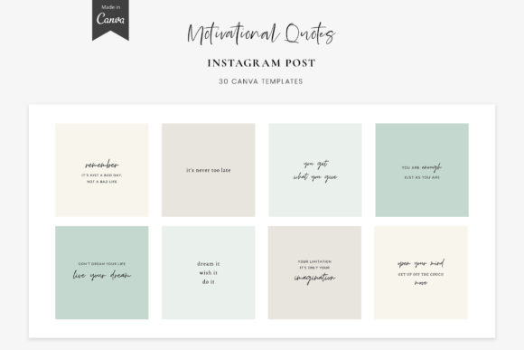 Instagram Quotes - Canva Templates Posts Graphic Graphic Templates By StylishDesign