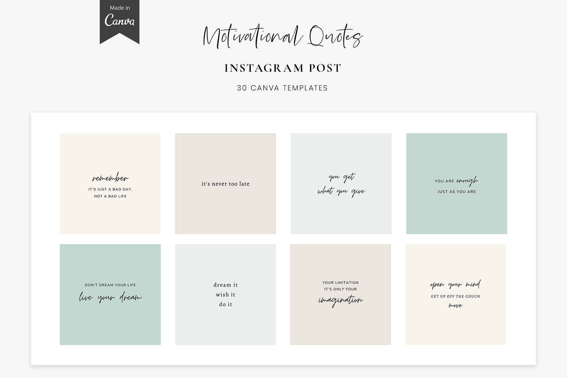 Download Free Instagram Quotes Canva Templates Posts Graphic By for Cricut Explore, Silhouette and other cutting machines.
