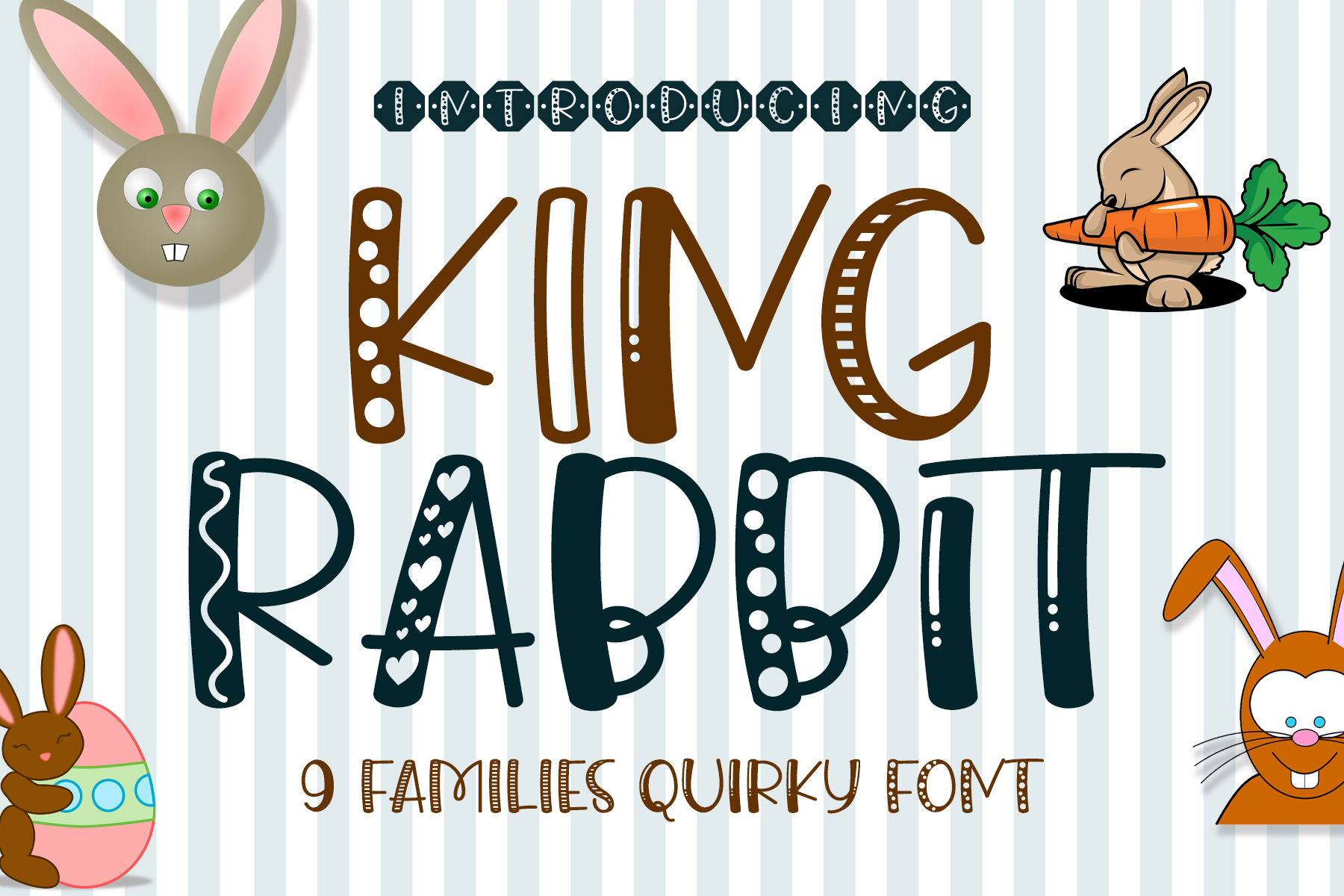 Download Free King Rabbit Font By Airotype Creative Fabrica for Cricut Explore, Silhouette and other cutting machines.