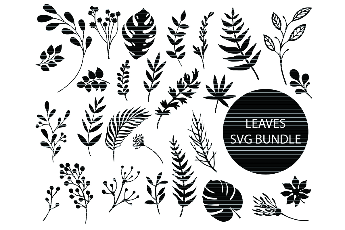 Download Free Leaves Clip Art Bundle Graphic By Meshaarts Creative Fabrica for Cricut Explore, Silhouette and other cutting machines.