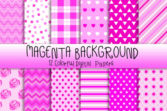 Magenta Background Digital Papers Graphic Backgrounds By PinkPearly