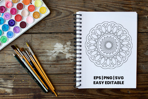 Print on Demand: Mandala Coloring Page Template #1 Graphic Coloring Pages & Books Adults By Masyafi Creative Studio