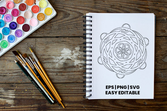 Download Free Mandala Coloring Template Graphic By Masyafi Creative Studio for Cricut Explore, Silhouette and other cutting machines.