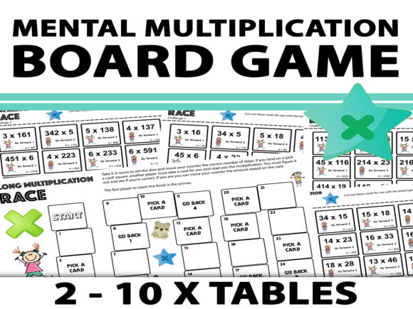 Mental Multiplication Board Game Graphic Teaching Materials By Saving The Teachers