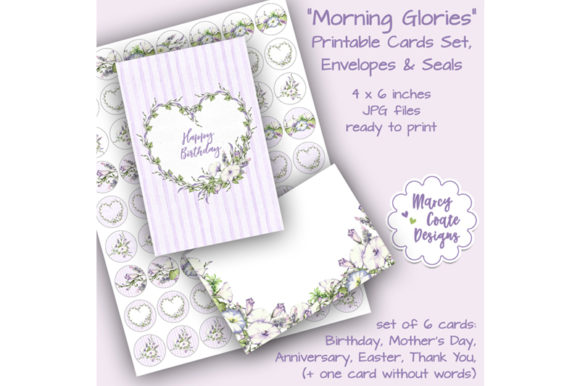 Download Free Morning Glory Printable Greeting Cards Graphic By for Cricut Explore, Silhouette and other cutting machines.