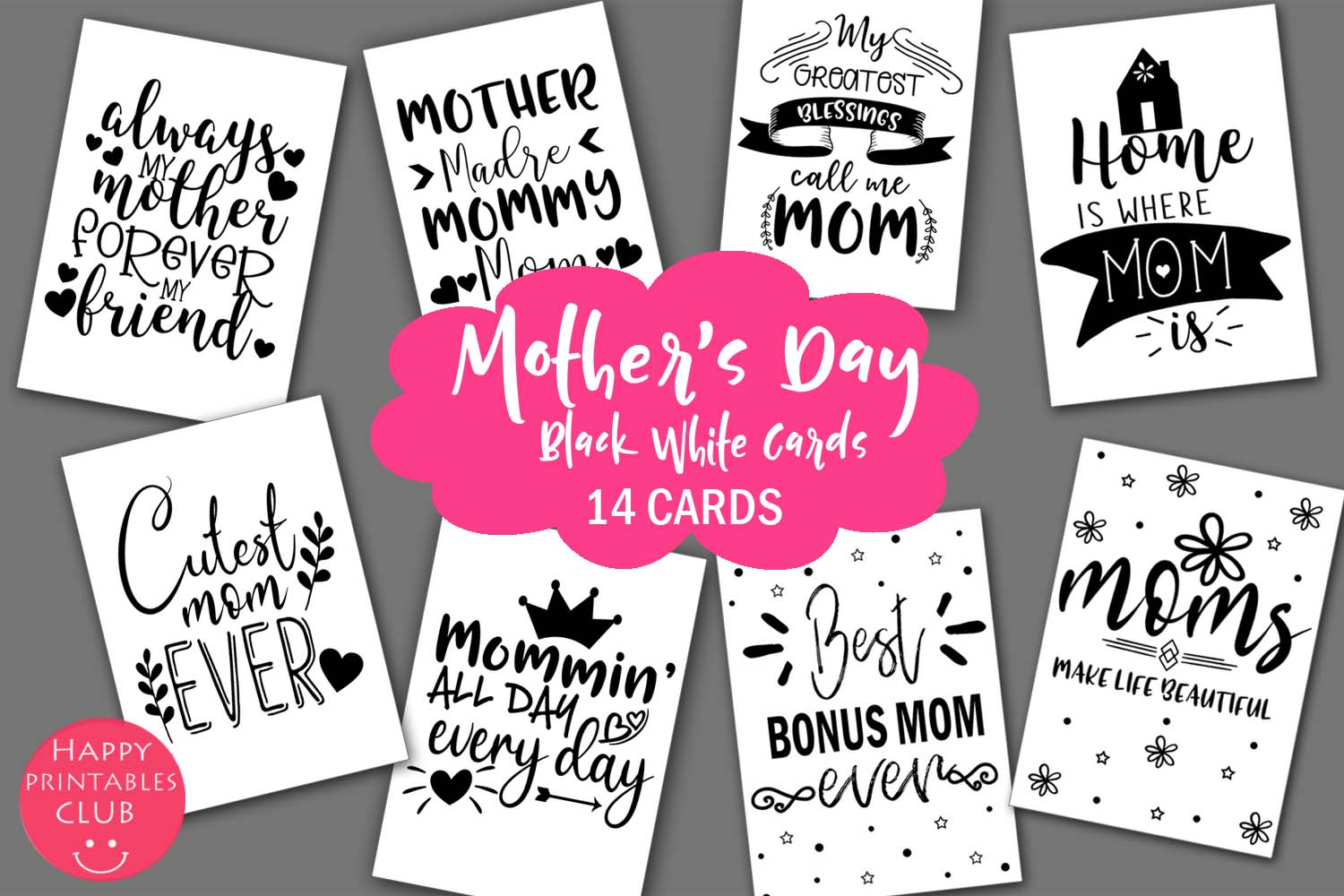 Mother S Day Cards For Moms Mom Cards Graphic By Happy