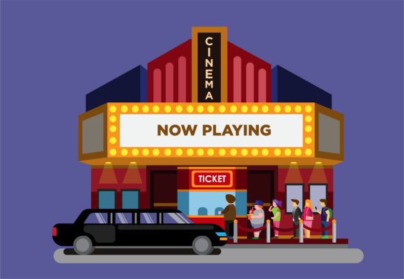 Download Free Movie Premiere In Cinema Theater Vector Graphic By Aryo Hadi for Cricut Explore, Silhouette and other cutting machines.