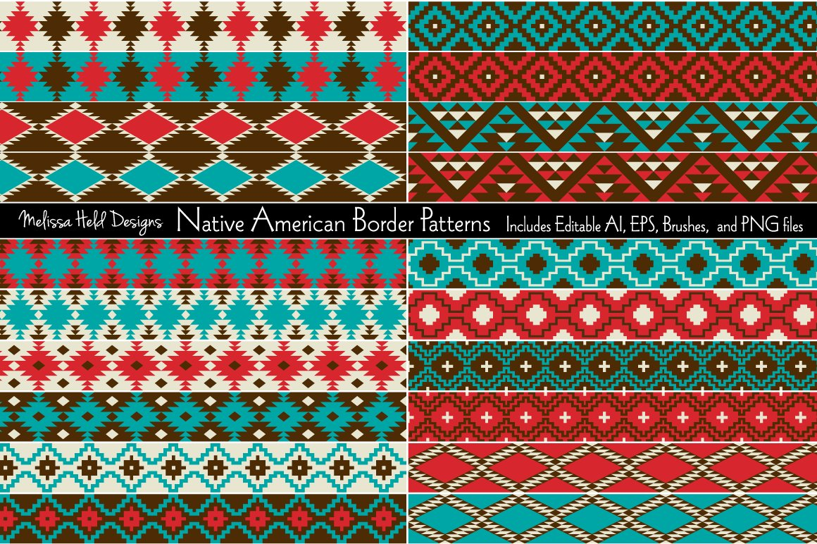 Download Free Native American Border Patterns Graphic By Melissa Held Designs for Cricut Explore, Silhouette and other cutting machines.