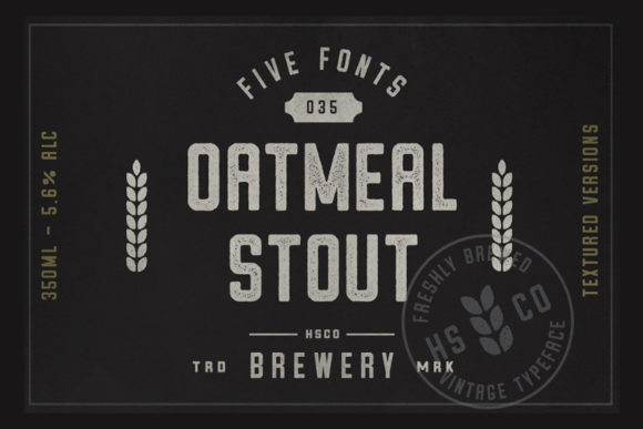 Print on Demand: Oatmeal Stout Display Font By Hustle Supply Co.