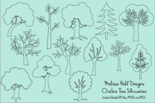 Outline Trees Clipart Graphic Illustrations By Melissa Held Designs