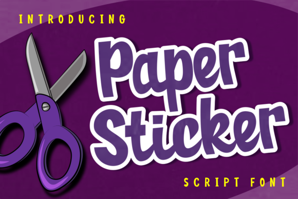Print on Demand: Paper Sticker Script & Handwritten Font By estede75