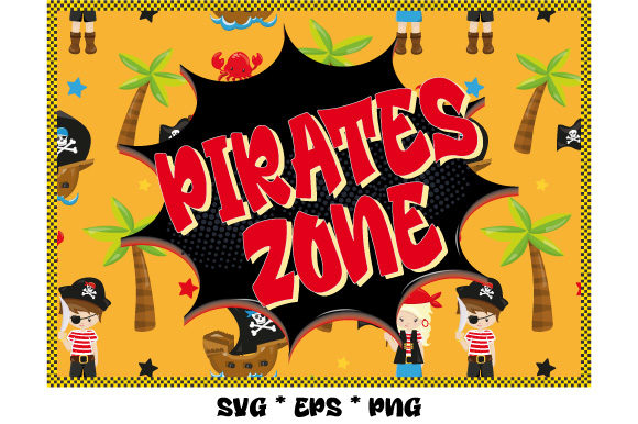 Print on Demand: Pirates Zone Graphic Illustrations By GraphicsFarm