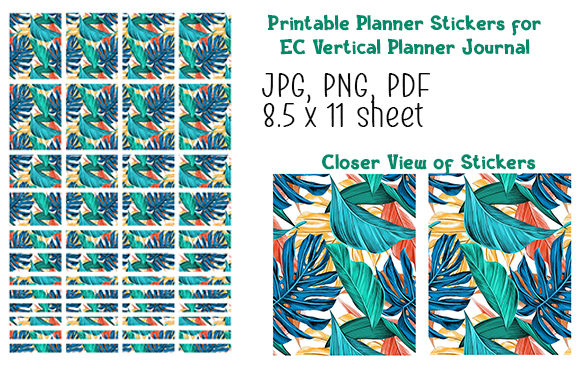 Print on Demand: Planner Stickers Vertical Planner V1 Graphic Illustrations By Kathryn Maloney