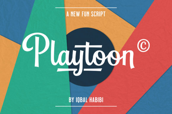 Print on Demand: Playtoon Script & Handwritten Font By Iqbal Habibi