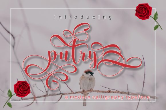 Print on Demand: Putry Script & Handwritten Font By screen letter