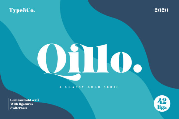 Print on Demand: Qillo Serif Font By Type and Co.