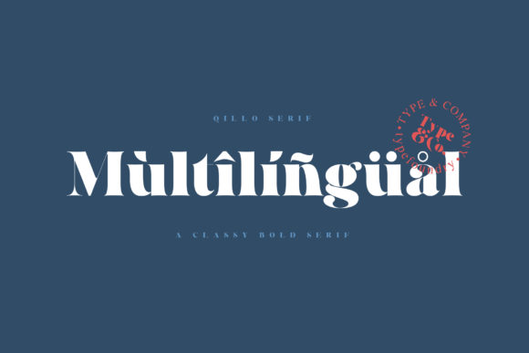 Print on Demand: Qillo Serif Font By Type and Co. - Image 2