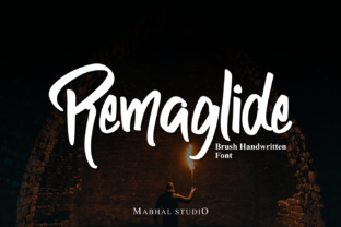 Print on Demand: Remaglide Script & Handwritten Font By Mabhal Studio