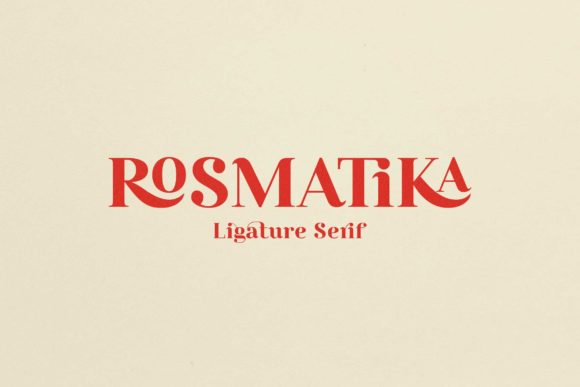 Print on Demand: Rosmatika Serif Font By NoerHadi