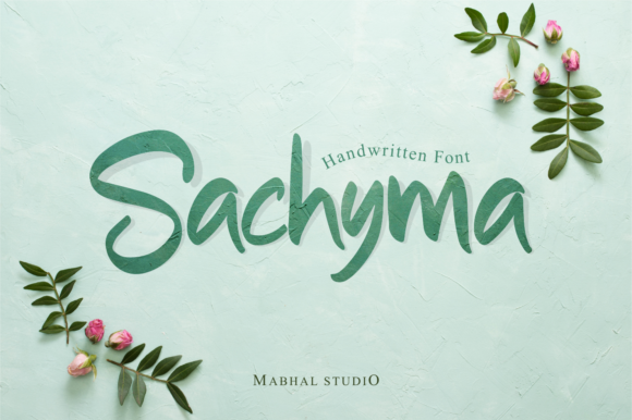 Print on Demand: Sachyma Script & Handwritten Font By Mabhal Studio