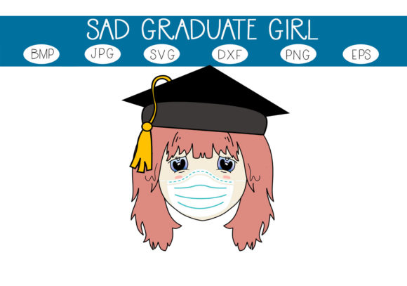 Print on Demand: Sad Graduate Girl Graphic Illustrations By capeairforce