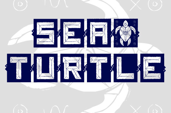 Print on Demand: Sea and Turtle Display Font By qkila