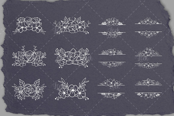 Set of Floral Cut File Graphic Crafts By AllmoStudio