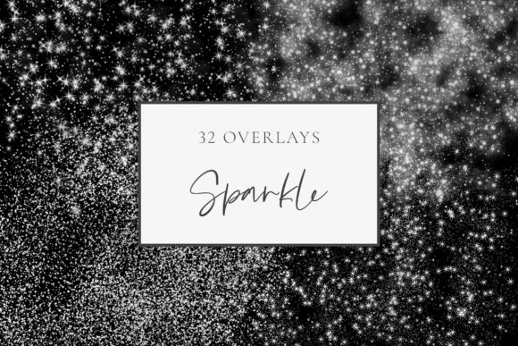 Silver Glitter Sparkle Overlays Graphic Objects By StylishDesign