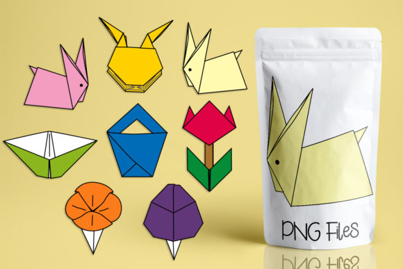 Print on Demand: Spring Origami Graphic Illustrations By Revidevi