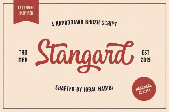 Print on Demand: Stangard Script & Handwritten Font By Iqbal Habibi