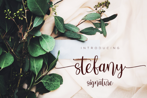 Print on Demand: Stefany Script & Handwritten Font By fiqiart09 - Image 1